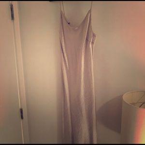 Zara silk shimmery cami dress